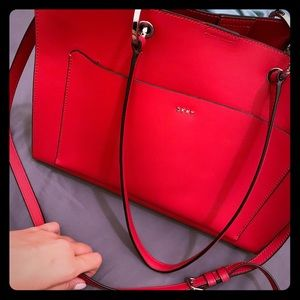 DKNY New Red Medium Tote - Authentic - Like NEW